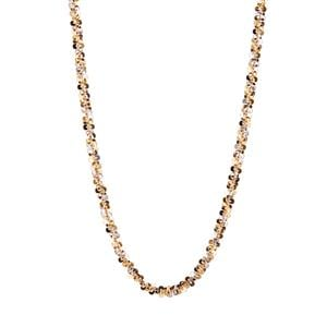 """18"""" Two Tone 9K Gold Couture Criss Cross Chain 6.20g"""