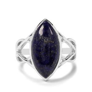 8.95ct Sar-i-Sang Lapis Lazuli Sterling Silver Ring