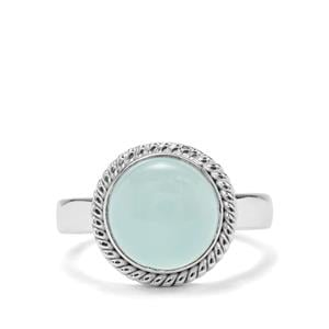3.71ct Aqua Chalcedony Sterling Silver Aryonna Ring