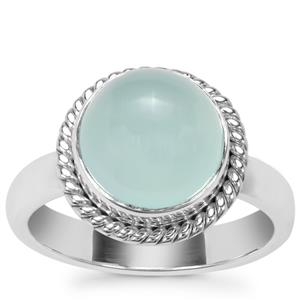 Aqua Chalcedony Ring in Sterling Silver 3.71cts