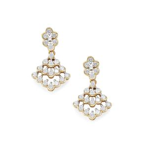 3/4ct Diamond 10K Gold Earrings