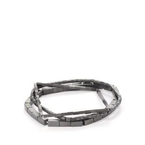 Black Haematite Set of 3 Elastic Bracelet 128cts