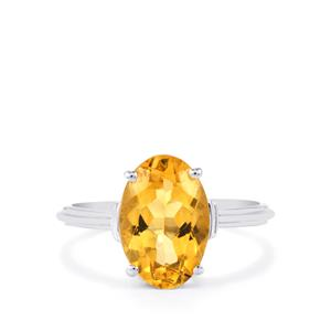 Diamantina Citrine Ring in Sterling Silver 5.50cts