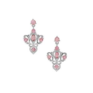 2.04ct Pink Tourmaline Sterling Silver Earrings