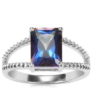 Mystic Blue Topaz Ring in Sterling Silver 2.84cts