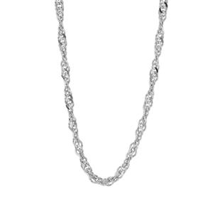 """24"""" Sterling Silver Couture Singapore Slider Chain 2.63g"""