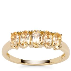 Ouro Preto Imperial Topaz Ring in 9K Gold 1.33cts
