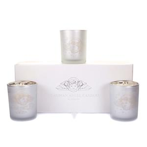 Guardian Angels Candle Set, Oud Fragrance With Carved Angel Gemstone ATGW 2cts