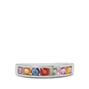 1.26ct Multi-Colour Sapphire Sterling Silver Ring