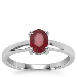 Thai Ruby Ring in Sterling Silver 1.09cts (F)