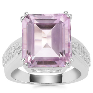 Rose De France Amethyst Ring in Sterling Silver 11cts