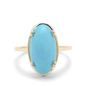Sleeping Beauty Turquoise Ring in 9K Gold 5.70cts