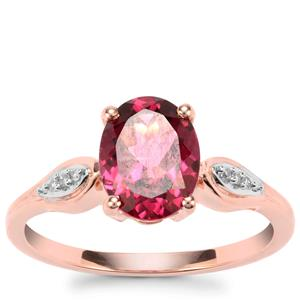 Umbalite Ring with Diamond in 9K Rose Gold 2.06cts