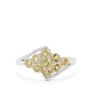 Yellow Beryl Ring in Sterling Silver 0.94ct