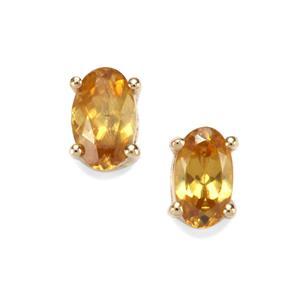0.52ct Morafeno Sphene 9K Gold Earrings