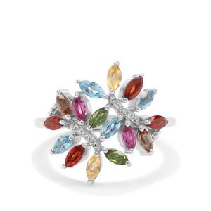 1.52ct Kaleidoscope Gemstones Sterling Silver Ring