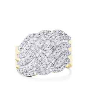 Diamond Ring in 9K Gold 1.40ct