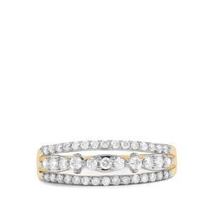 1/2ct Argyle Diamond 9K Gold Tomas Rae Ring
