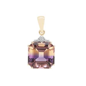Anahi Ametrine Pendant with Diamond in 9K Gold 7.45cts