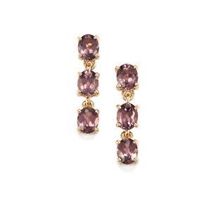 2.25ct Mahenge Pink Spinel 10K Gold Earrings