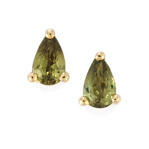 0.55ct Ambanja Demantoid Garnet 9K Gold Earrings