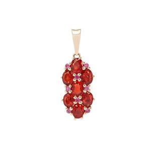 Songea Ruby Pendant with Sakaraha Pink Sapphire in 9K Gold 1.73cts