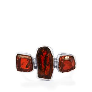 6.89ct Rhodolite Garnet Sterling Silver Ring