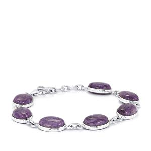 43.03ct Charoite Sterling Silver Aryonna Bracelet