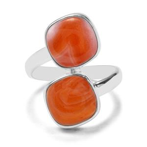 9.16ct Botswana Agate Sterling Silver Aryonna Ring