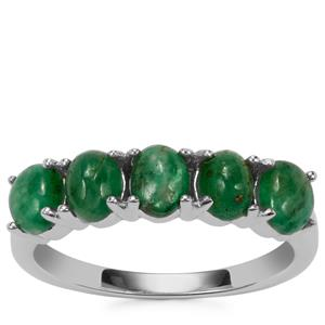 Itabira Emerald Ring in Sterling Silver 1.85cts