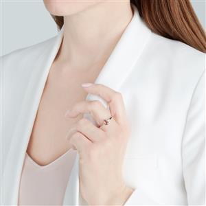 Gouveia Andalusite & Diamond 10K White Gold Ring ATGW 0.70ct