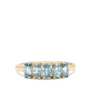 1.94ct Ratanakiri Blue Zircon 9K Gold Ring