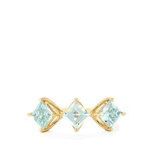 1.65ct Pedra Azul Aquamarine 9K Gold Ring