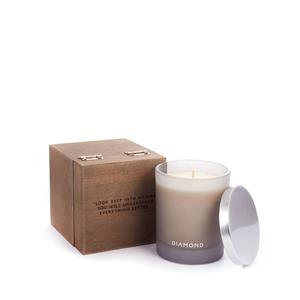 Birthstone Candle - April Diamond Candle, Orris Fragrance with Rough Diamond ATGW 0.10cts
