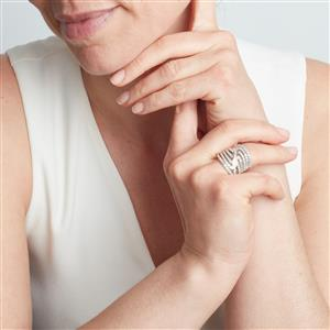 Diamond Ring in Sterling Silver 2ct