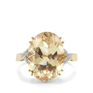 Serenite Ring with Diamond in 10k Gold 7.88cts