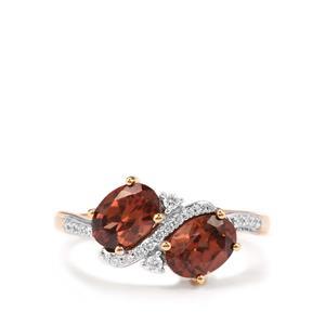Zanzibar Zircon & Diamond 18K Gold Tomas Rae Ring MTGW 2.57cts