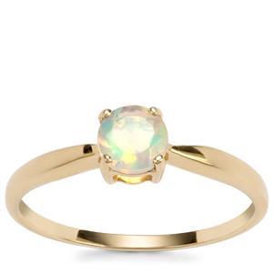 Ethiopian Opal Ring in 9K Gold 0.31ct