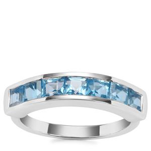 Swiss Blue Topaz Ring in Sterling Silver 1.95cts