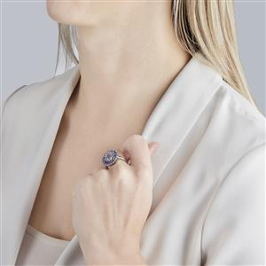 Rio Grande Lavender Quartz Ring with Tanzanite in Sterling Silver 3.61cts