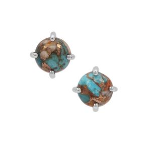 Oyster Copper Mojave Turquoise Earrings in Sterling Silver 3.80cts