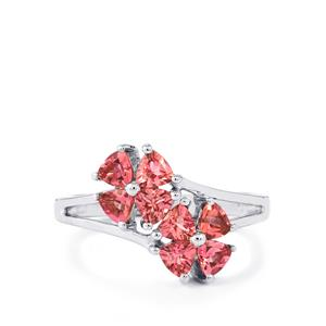 1.21ct Pink Tourmaline Sterling Silver Ring
