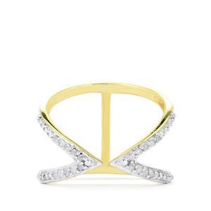 1/8ct Diamond Midas Ring
