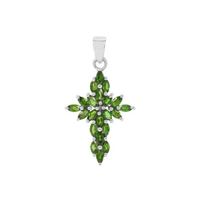 Chrome Diopside with Pendant in Sterling Silver 1.82cts
