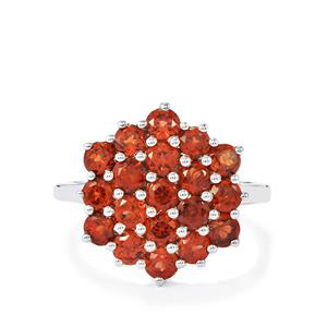 2.72ct Mozambique Garnet Sterling Silver Ring