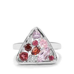 1.83ct Sunset Sterling Silver Shades Ring