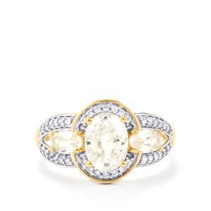 2.94ct Singida Tanzanian Zircon 9K Gold Ring