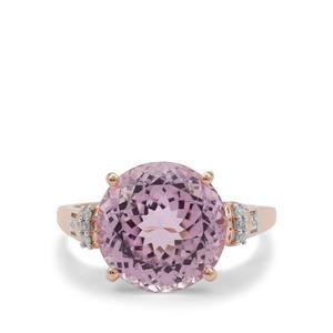 Kolum Kunzite Ring with Diamond in 9K Rose Gold 7.85cts