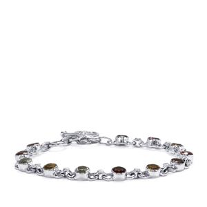 Kaleidoscope Gemstones Bracelet in Sterling Silver 6.60cts