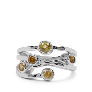 Ambilobe Sphene Ring with Morafeno Sphene in Sterling Silver 0.92ct